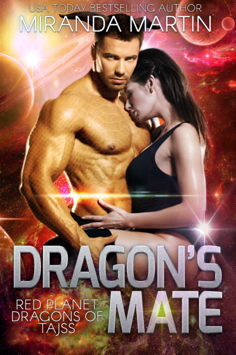 Cover for Dragon's Mate: A SciFi Alien Romance (Red Planet Dragons of Tajss Book #2)