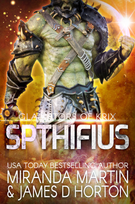 Cover for Spthifius: A SciFi Alien Gladiator Romance (Gladiators of Krix)